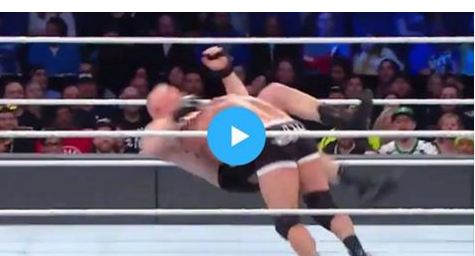 SPORTS, wresling, wwe, Gold Berg kicked out Bruck Lesnar in Less that 2 minutes in WWE, gold berg fight with bruke lesnar,