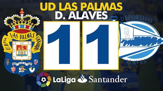 Marcador UD Las Palmas 1-1 Deportivo Alavés