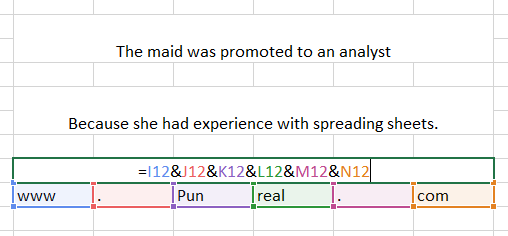 This excel pun maid my day.