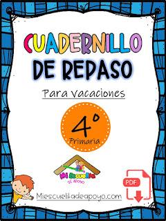 cuadernillo de repaso para vacaciones cuarto primaria