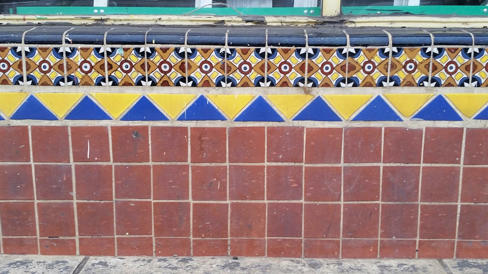 This original commercial tile installation can be found on S. La Brea Ave. in Los Angeles, CA