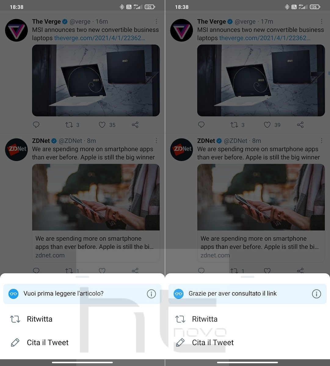 Adesso Twitter ti chiede di leggere gli articoli (prima di ritwittarli)