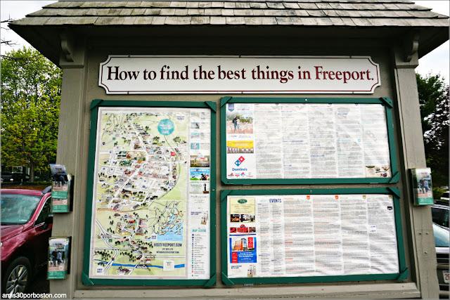 Mapas en los Aparcamientos Gratuitos de Freeport, Maine