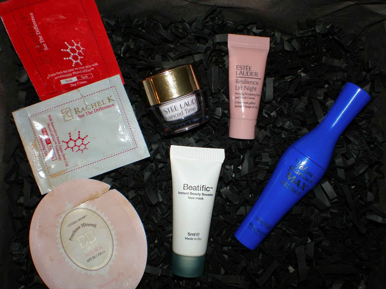 Beauty samples used during Easter 2015 holidays