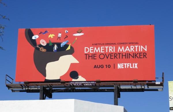 Demetri Martin Overthinker billboard