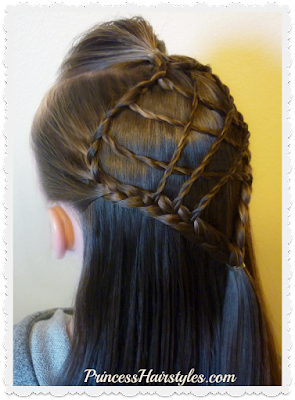 Adorable dream catcher hairstyle, video tutorial.