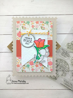 Have a Mice Day a card by Diane Morales | Garden Mice Stamp Set by Newton's Nook Deisgns