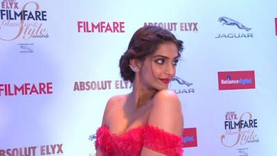 sonam kapoor latest off shoulder dress photo