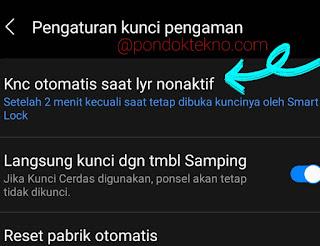 Cara Atur waktu Kunci Layar Otomatis di Samsung A51