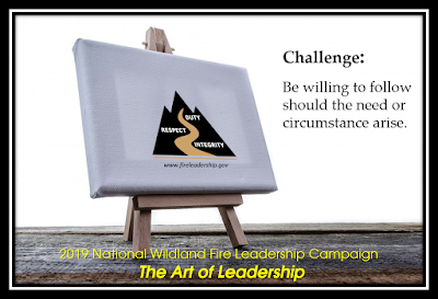 Easel with canvas featuring WFLDP logo (Challenge #16: The Art of Leadership  Be willing to follow should the need or circumstance arise.)