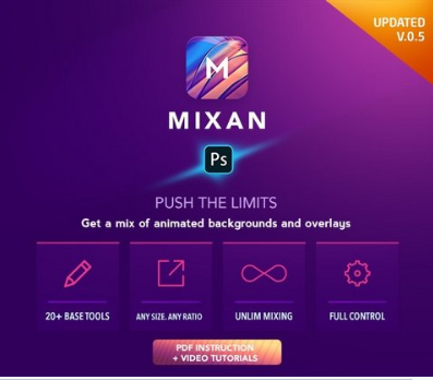 Plugins – GraphicRiver – Mixan Photoshop Plugin for Animated Backgrounds and Overlays – 25872475 [GIF, PSD]