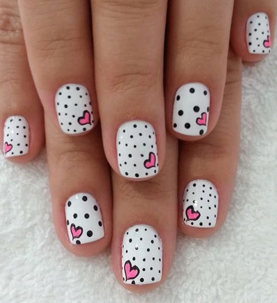 some beautiful nail arts for short nails - Fashion Trends