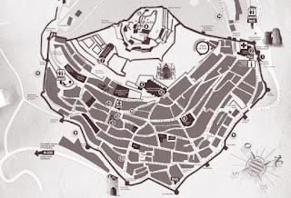 Mapa turístico de Morella.