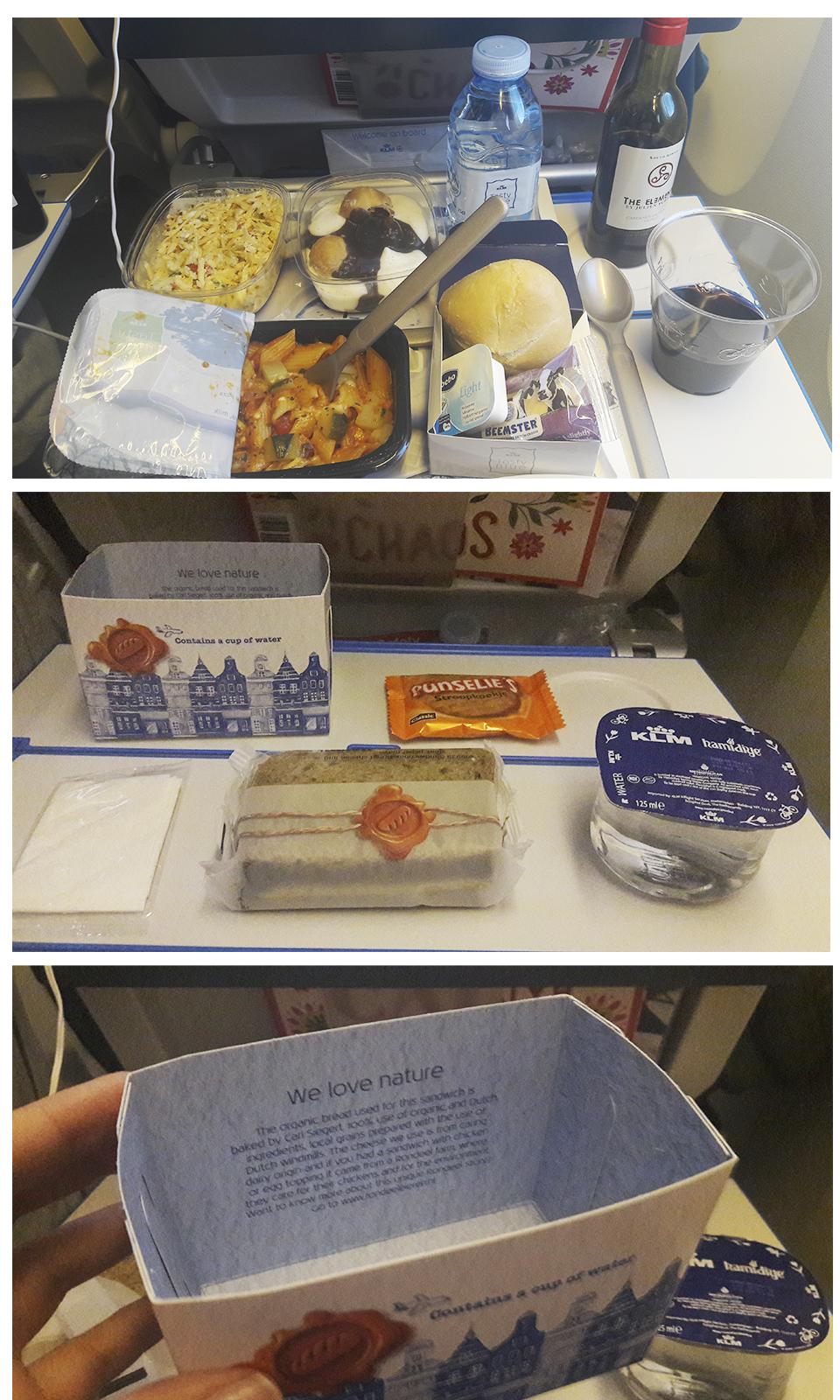 KLM refeição de bordo