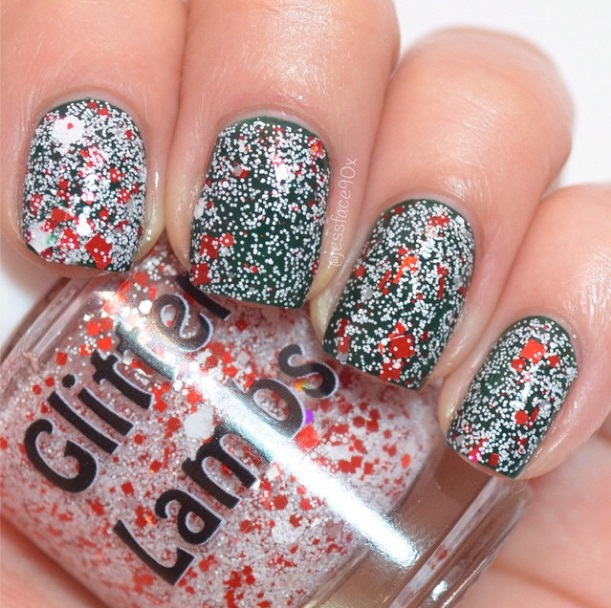 Christmas glitter nail polishes for your nails! Amazing handmade custom indie nail polish for the holiday season!