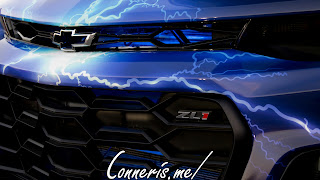 Blue Lightning Custom Chevrolet Camaro ZL1 Front Badges