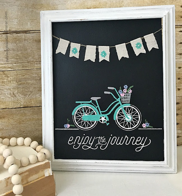 "Vintage Paint and more... DIY Framed Chalkboard Art using Chalk Couture's ""Enjoy the Journey"" transfer and Chalkology Pastes"