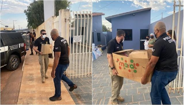 Operação da Polícia Civil de Seabra realiza ação social no lar do vovô em Seabra