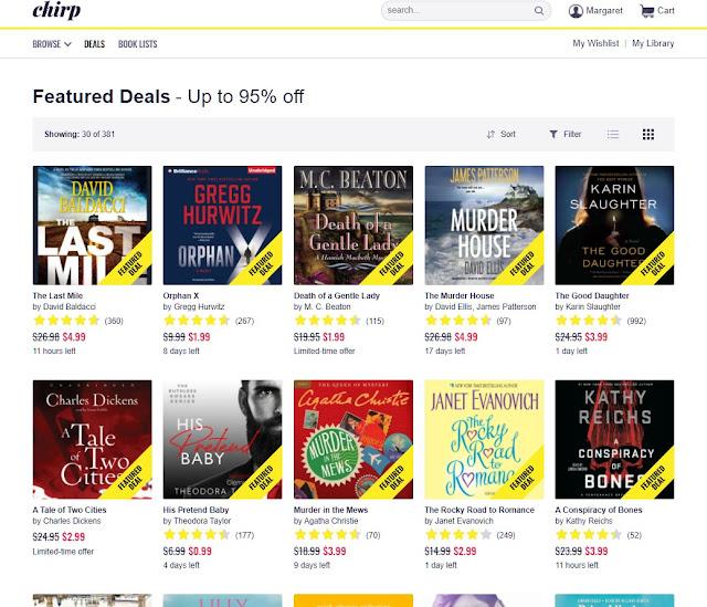 Chirp screenshot - audiobook Featured Deals