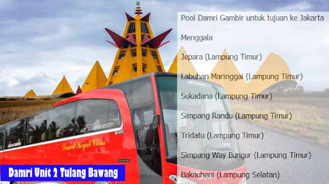 Damri Unit 2 Tulang Bawang Lampung, Ini Infonya
