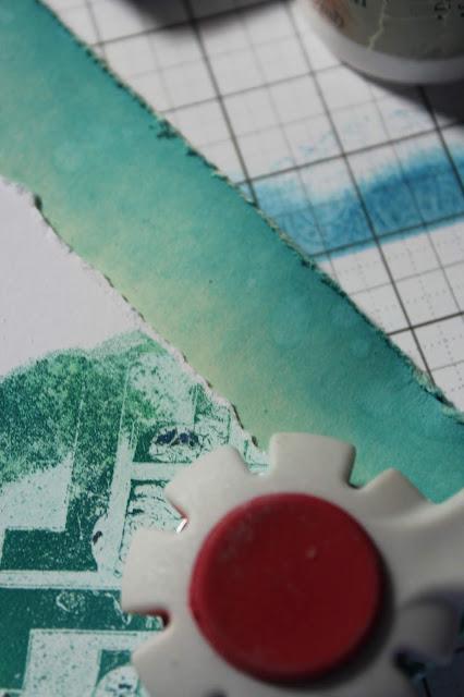 Gelli Print Altered Tag #clubscrap #tag #gelliarts #stencil