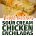 SOUR CREAM CHICKEN ENCHILADAS RECIPE