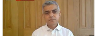 London Mayor Khan encourage people to stay at home and avoid public transport
