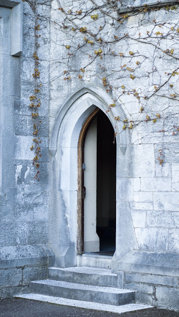 Open door on the quadrangle at University College Cork (UCC)