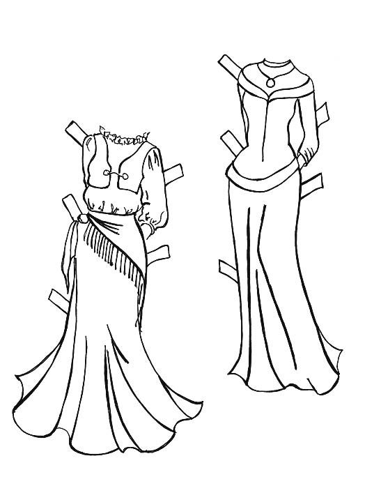 Medieval Times Clothing Coloring Pages