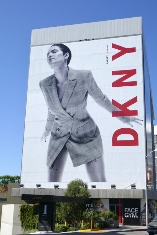 Giant DKNY Halsey Fall 2019 billboard