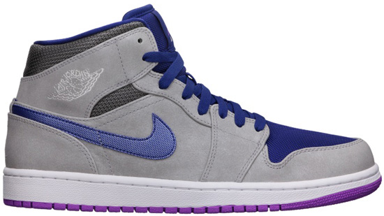 sports shoes bae66 ec3a7 06 01 2013 Air Jordan 1 Retro Mid 554724-008 Matte Silver Matte  Silver-Laser Purple-Deep Royal Blue  105.00