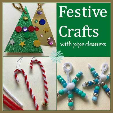 festive christmas crafts using pipe cleaners for children