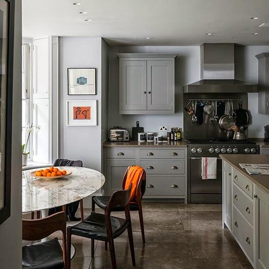decorar cozinha piso cinza e pedra viva etc casa para casa