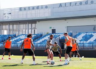 El equipo de Zidane trabajó en el Di Stefano