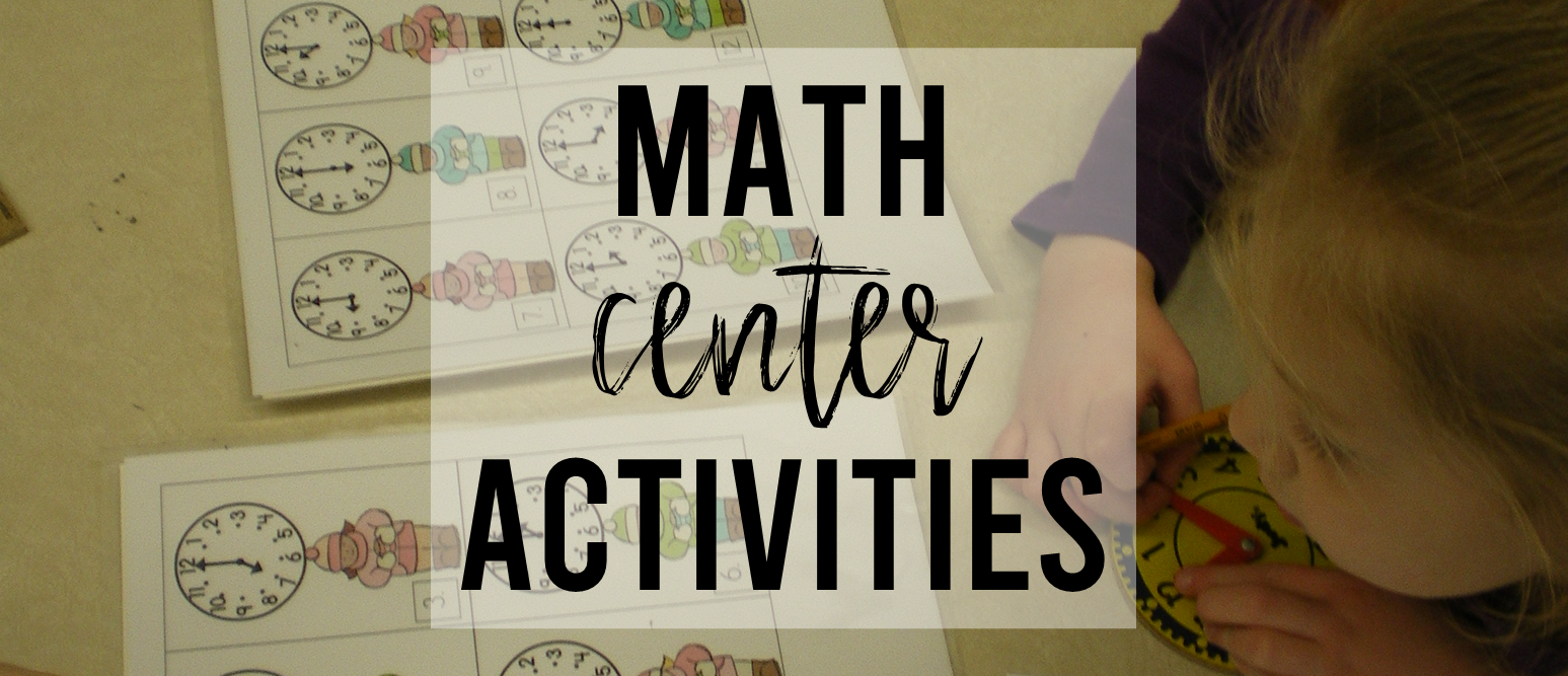 Winter themed math center activities for Kindergarten