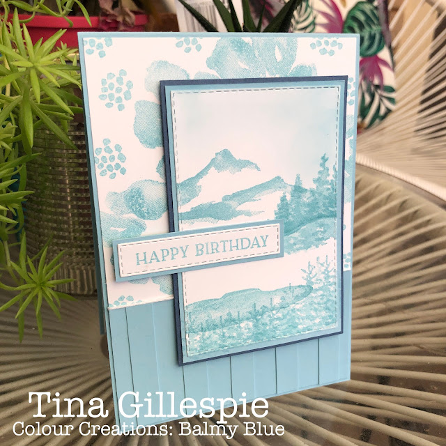 scissorspapercard, Stampin' Up!, Art With Heart, Colour Creations Showcase, Snow Front, Blossoms In Bloom, Stitched Rectangles Dies