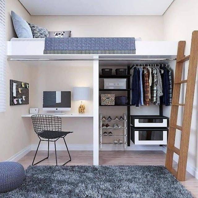Mezzanine untuk Kamar Tidur Sempit
