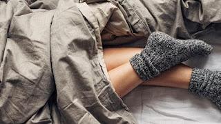 ارتداء الجوارب أثناء النوم