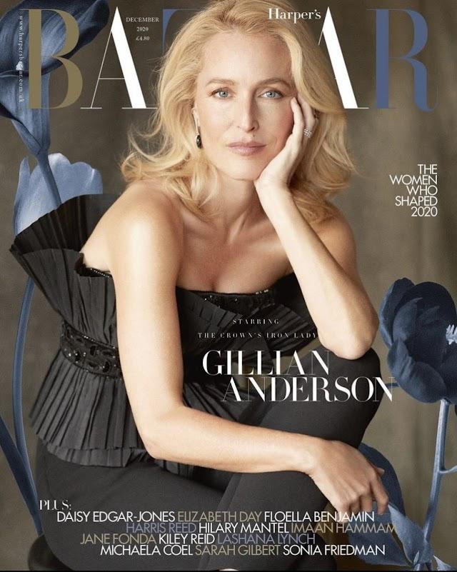 [Photo] Gillian Anderson in Harper's Bazaar, December 2020