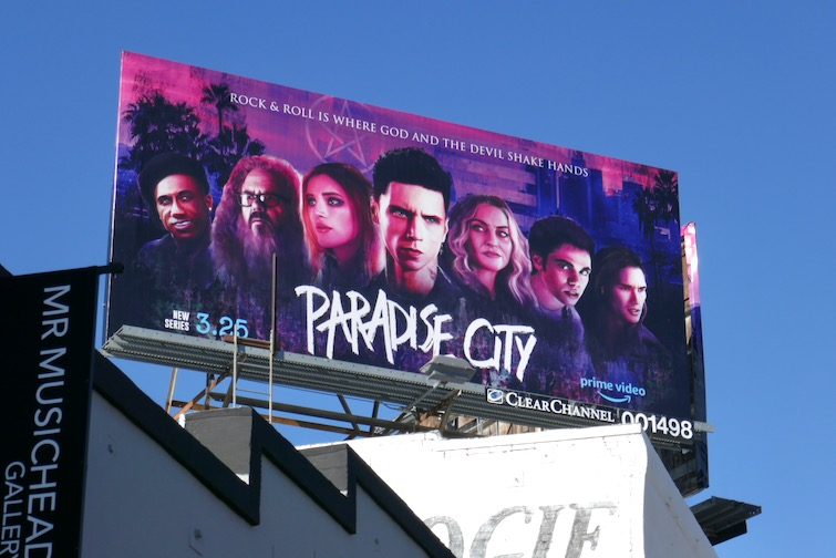 Paradise City Amazon Prime Video billboard