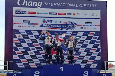 Herlian Dandi (kanan) raih podium 3 Thailand Talent Cup (TTC) seri 3