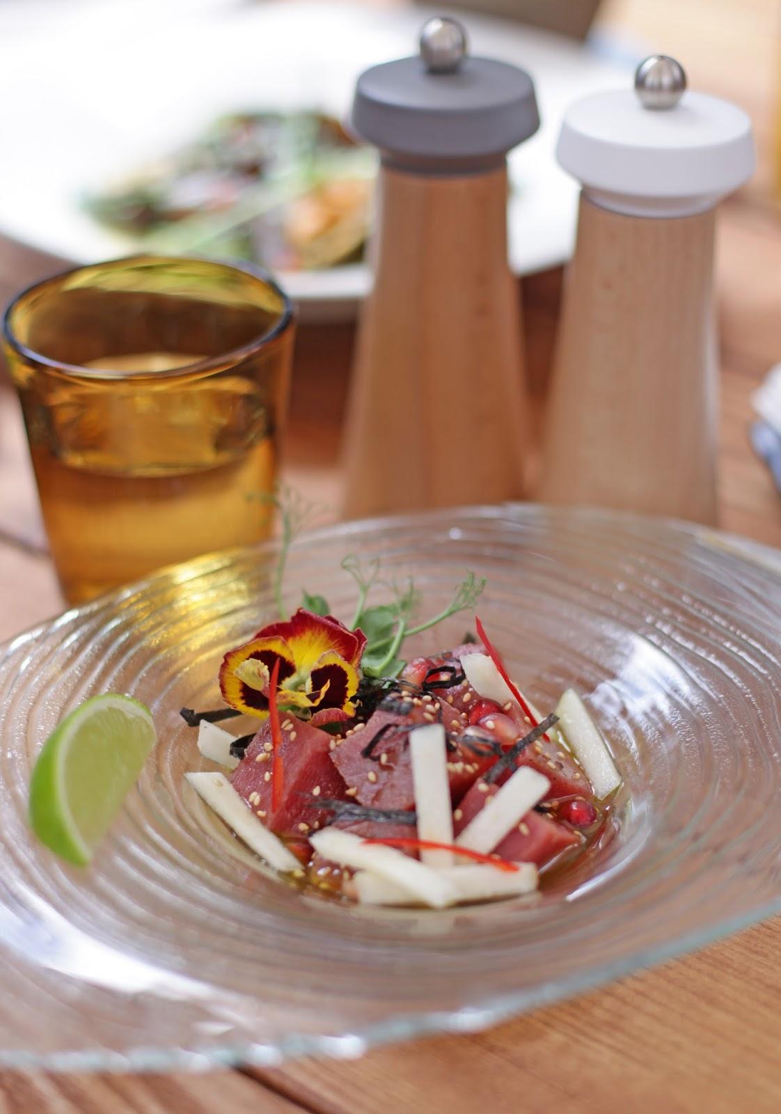 ресторан Fabius, итальянский ресторан, загородный комплекс, севиче из тунца