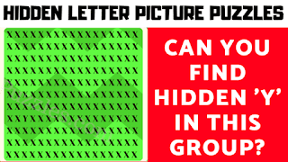 Can you find the hidden letters in this observation skills test?