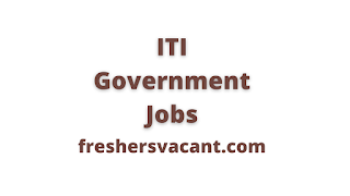 results as iti government jobs