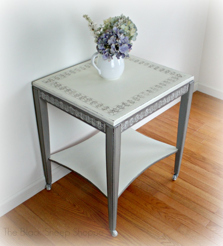 Elegant mid-century side table