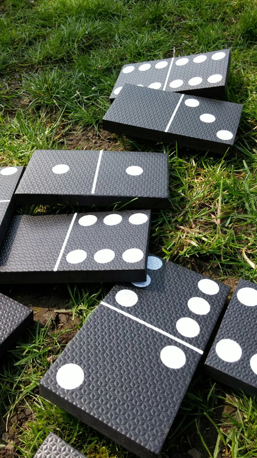 Playing dominoes in the garden