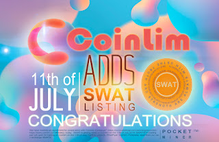 CoinLim will list SWAT on July 11th , 2019,and open SWAT/ETH Markets .
