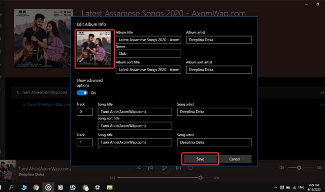 How to change Album Art in Groove Music