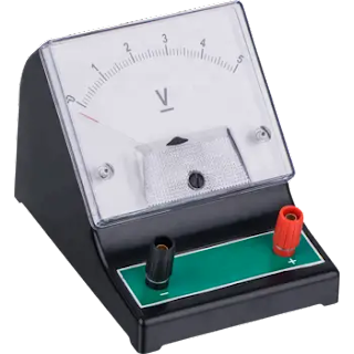 how to read an analog voltmeter