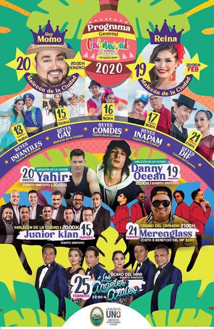 programa carnaval carmen 2020